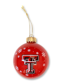 Texas Tech Double T 2019 Red Glass Ball Ornament