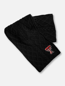"Texas Tech Black Double T ""Circle"" Scarf"