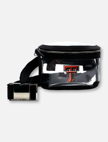 Texas Tech Red Raiders Double T Clear Black Fanny Pack With Charm