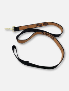Texas Tech Red Raiders Tan Leather Embroidered Leash