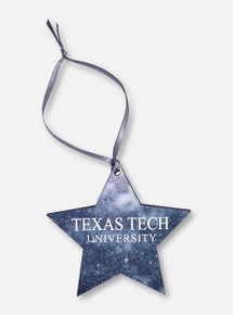 """Legacy Texas Tech Red Raiders """"Snow Day"""" Star Wooden Ornament"""