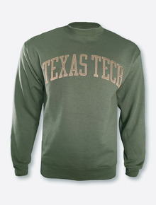 Champion Texas Tech Red Raiders Powerblend Fleece Texas Tech Olive Arch Sweatshirt