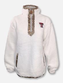 "Texas Tech Red Raiders Double T ""Northfolk Lumi""Cheetah 1/4 Zip Jacket"