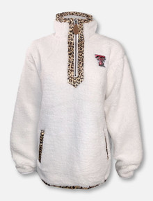 "Texas Tech Red Raiders Double T ""Northfolk Lumi""Cheetah 1/4 Zip Jacket"