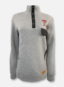 """Pressbox Texas Tech Red Raiders Double T """"Northfork"""" Quilted Quarter Snap Pullover"""