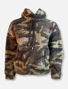 Millenial Pink Texas Tech Red Raiders Camo Fleece Hoodie