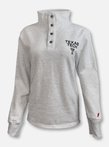 League Texas Tech Red Raiders Black and White Double T Quarter Snap Pullover