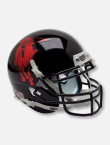Schutt Texas Tech Red Raiders Metallic Masked Rider Mascot Authentic Helmet