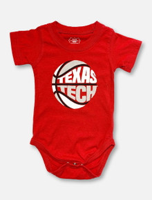Texas Tech INFANT Puff Print Red Basketball Onesie
