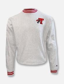 "Champion Texas Tech Red Raiders ""First Team"" Grey Reverse Weave Crew"