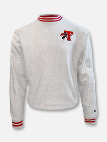 "Champion Texas Tech Red Raiders ""First Team"" Grey Reverse Weave Crew"