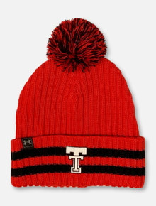 "Under Armour  Texas Tech Red Raiders ""Throwback 150"" Beanie with Pom"