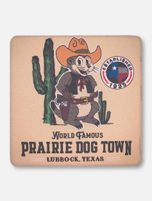 Texas Tech Red Raiders Prairie Dog Town Colored Cork Backed Coaster