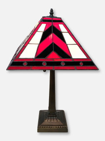 "Texas Tech Red Raiders ""Tiffany II""  Double T Stained Glass Lamp"