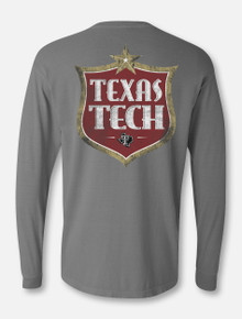 "Texas Tech Red Raiders  Double T ""Postal Service"" Grey Long Sleeve T-Shirt"