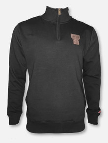 "League Texas Tech Red Raiders Double T Leather Patch ""Stadium Quarter Zip"" Pullover"
