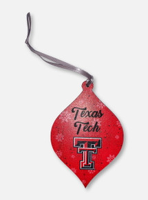 Legacy Texas Tech Red Raiders Double T Teardrop Wooden Ornament