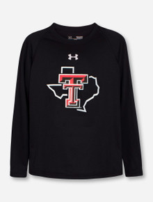 "Under Armour  Texas Tech Red Raiders Double T  YOUTH ""Pride"" Performance Long Sleeve T-Shirt"