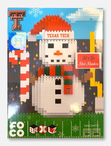 Texas Tech Red Raiders Double T BRXLZ Snowman Puzzle