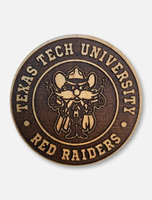 Texas Tech Red Raiders Wooden Raider Red Magnet