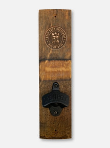 Texas Tech Red Raiders Raider Red Barrel Stave Wooden Wall Mount Bottle Opener