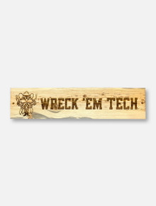 Texas Tech Red Raiders Raider Red Horizontal Blue Pine Wooden Sign