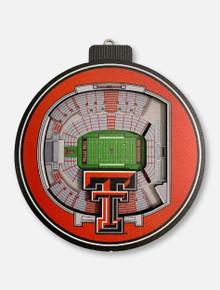 Texas Tech Red Raiders 3D Stadium View Ornament