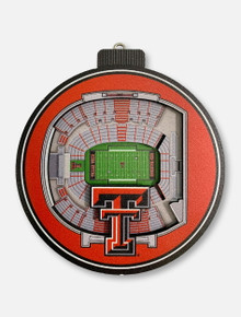 Texas Tech Red Raiders 3D Stadium View Ornament