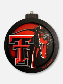 Texas Tech Red Raiders Double T 3D Masked Rider Ornament