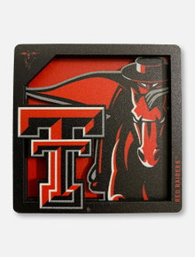Texas Tech Red Raiders Double T 3D Masked Rider Magnet