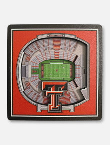 Texas Tech Red Raiders Double T 3D Stadium View Magnet
