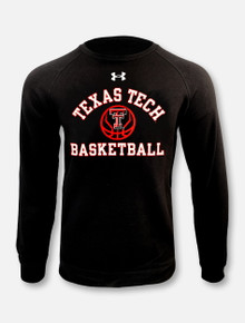 "Under Armour Texas Tech Red Raiders Basketball ""Fade Away"" Black Crewneck Sweatshirt"