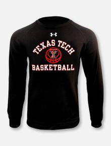"Under Armour Texas Tech Red Raiders Basketball ""Fade Away"" Black Crewneck Sweatshirt"
