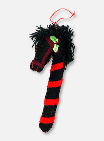 Texas Tech Red Raiders Team Colors Hobby-Horse Candy Cane Ornament