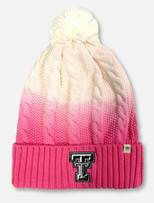 "Texas Tech Red Raiders Double T YOUTH  ""Dissolve"" Pink Pom Beanie"