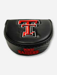 Team Effort Texas Tech Red Raiders Double T Black Leather Mallet Putter Cover