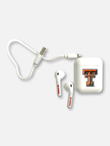 Texas Tech Red Raiders Double T Bluetooth Earbuds With Charging Case