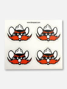 Texas Tech Red Raiders 4 Pack Raider Red Face Tattoos