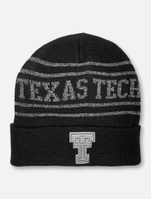 "Texas Tech Red Raiders Tonal Double T ""Brightnite"" Black Knit Beanie"
