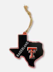 Texas Tech Red Raiders Double T Raiderland State Ornaments