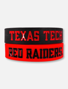 Texas Tech Red Raiders Double T Bulk Bandz Two-Pack Bracelets