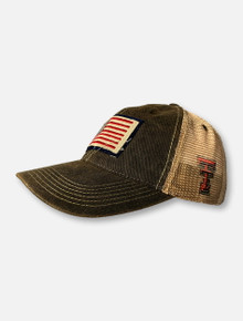 Legacy Texas Tech Red Raiders American Flag Patch Canvas And Mesh Snapback Cap