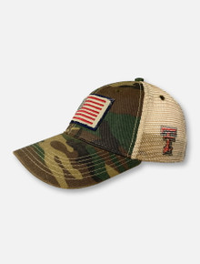 Legacy Texas Tech Red Raiders American Flag Patch Camouflage Snapback Cap
