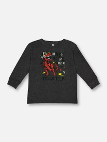 """Texas Tech Red Raiders """"Make Some Noise"""" TODDLER Charcoal Long Sleeve T-Shirt"""