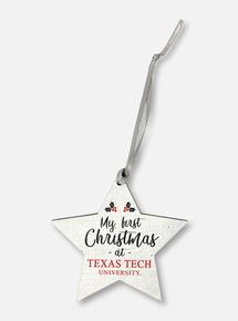 Texas Tech Red Raiders My First Christmas At Texas Tech Ornament