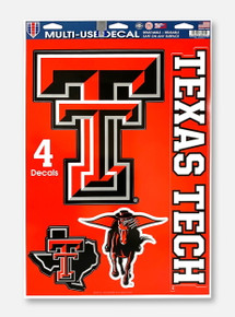 Texas Tech Red Raiders Double T Multi-Use Decal Set Of Four