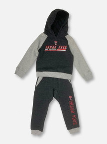 "Arena Texas Tech Red Raiders Double T INFANT ""Whatnots"" Hooded Long Sleeve &  Sweatpants Fleece Set"