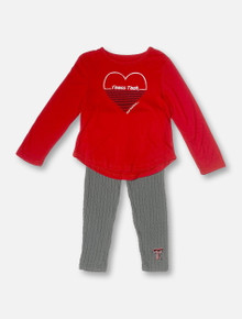 "Arena Texas Tech Red Raiders Double T TODDLER ""Sweetums"" Long Sleeve & Leggings Set"