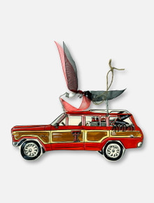 Glory Haus Texas Tech Red Raiders Double T Station Wagon Ornament
