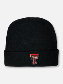 "Top of the World Texas Tech Double T TODDLER  ""Lil' Cuff"" Black Beanie"